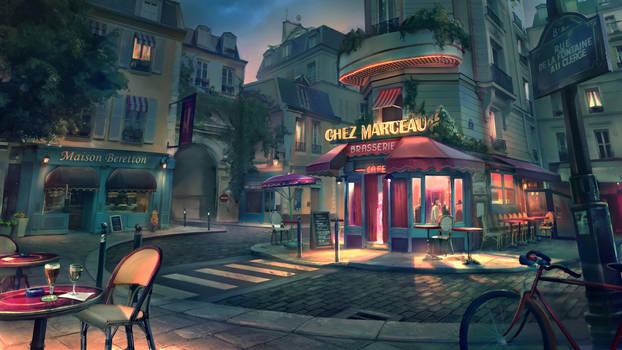 Paris street / night version