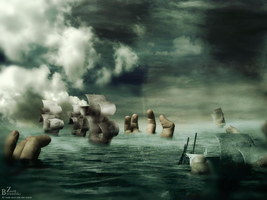 At dark blue and far ocean by barnaulsky-zeek