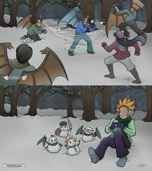 Sombulus Snowball Fight Wallpapers!