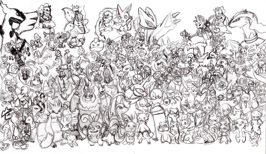 Gotta catch them all unova by pyracanthii on deviantart for All pokemon coloring pages