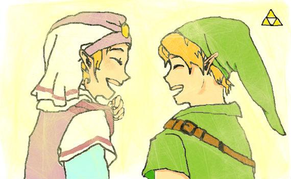 Zelda and Link by KilltheRabbitt