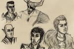 Dragon Age Inquisition sketches