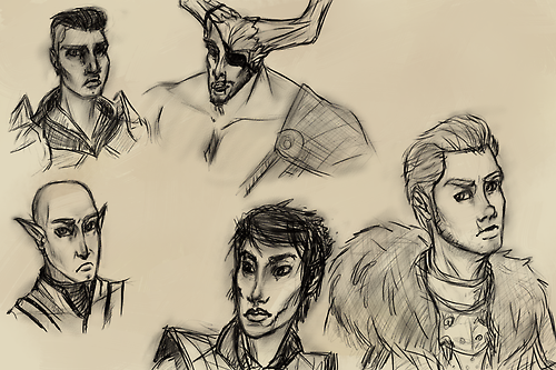 Dragon Age Inquisition sketches by AnimeMan90