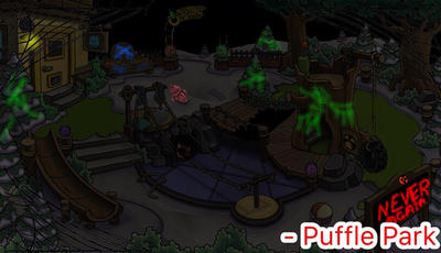 Puffle Park after the shutdown by PartyTyme3000