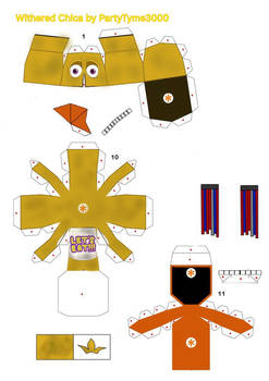 Withered Chica papercraft WIP