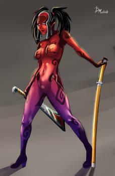 Oboro Amazon Samurai Shodown Warriors Rage