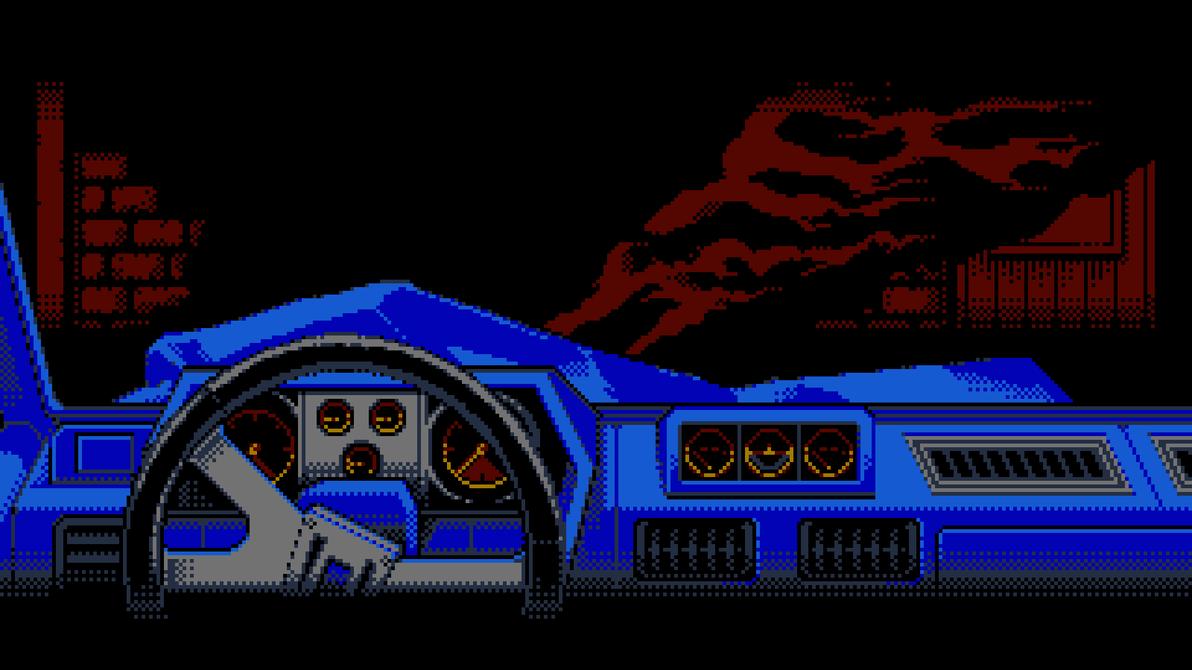 8-bit Adventure Anthology Background - Crash by Polymental69