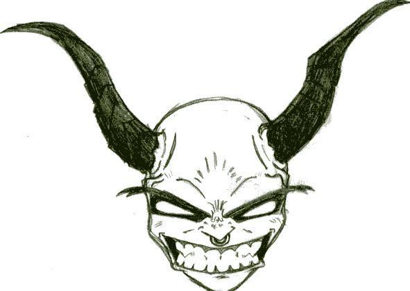 Demon smiling