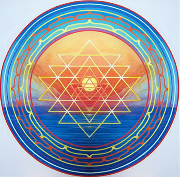 Sri-yantra. 6'x6'- by ImagoDeiVine