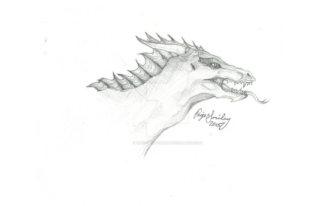 Dragon Head Sketch by I-WindWalker-I