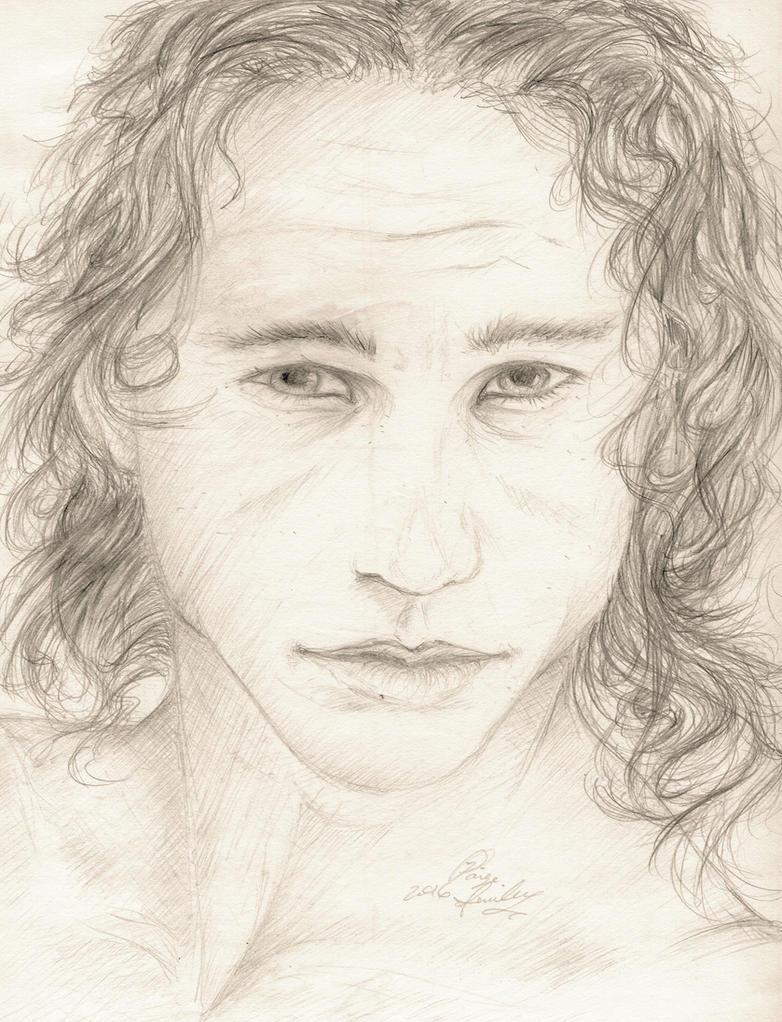 Heath Ledger Portrait by I-WindWalker-I