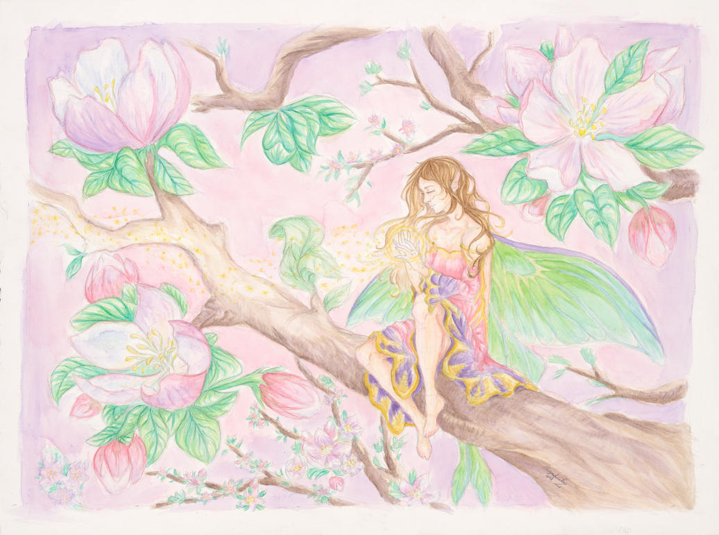 Apple Blossoms by I-WindWalker-I