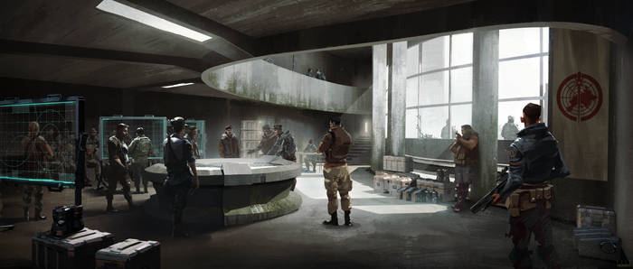 TRIBES OF EUROPA - CRIMSON HQ CONFERENCE  ROOM
