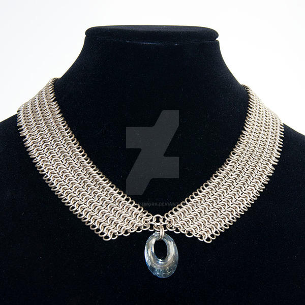 Collar Style Nickel Silver Maille Necklace by chef-chad