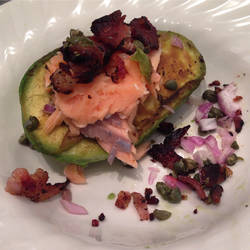 Grilled Avocado with Salmon by ChadRossArtwork