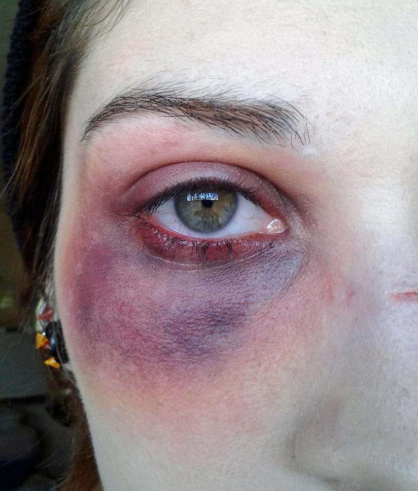 Witch eye makeup black