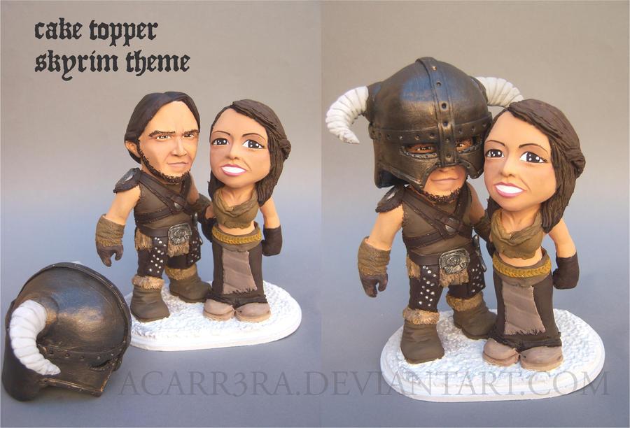 cake topper Skyrim theme by AlbertoCarrera
