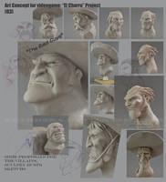 Art Concept for videogame: El Charro Project (03) by AlbertoCarrera