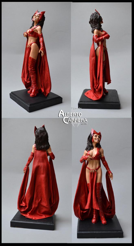 Scarlet Witch  (ooak figure) by AlbertoCarrera