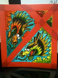 Dragon split with Bob Done by heather-holyoak