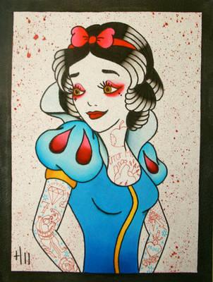 Tattooed Snow White by heather-holyoak