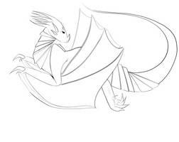 Dragon 1 lineart