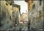 crossing shadows of Firenze
