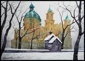 St.Barbara Church in Warsaw by Kegriz