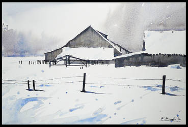 winter barn by Kegriz