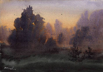 Wieczorne mgly / Evening fog by Kegriz