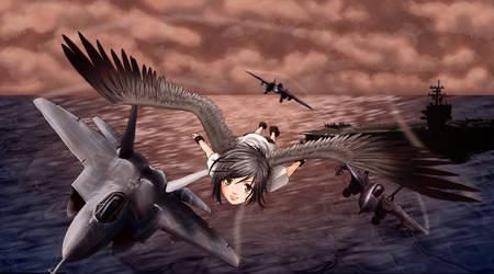 Born to fly by Nekopico-pen
