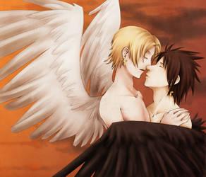 BFG -- Michael and Lucifer by Nekopico-pen
