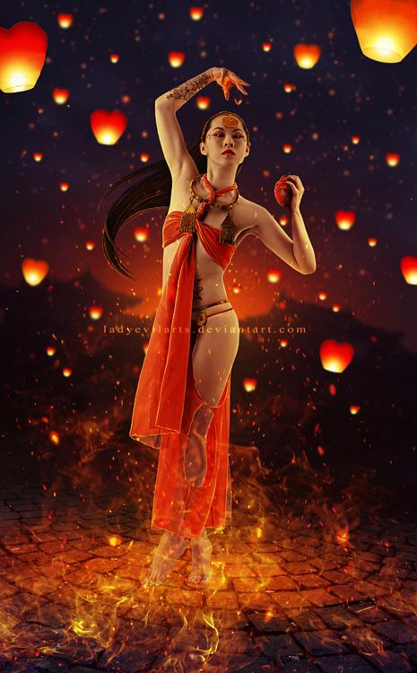 Festival Of Flaming Hearts by LadyEvilArts