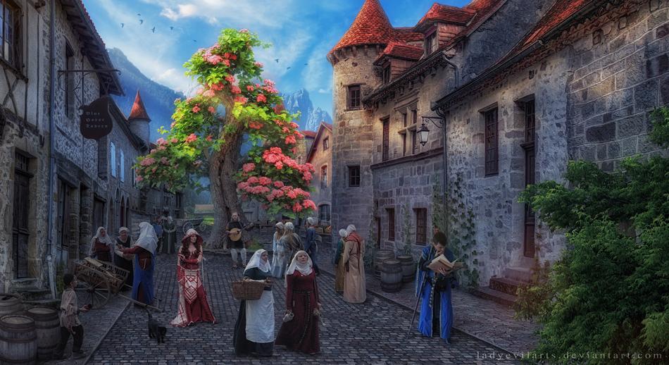 Medieval Evening by LadyEvilArts