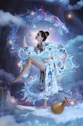 Aquarius - Waterbender by LadyEvilArts