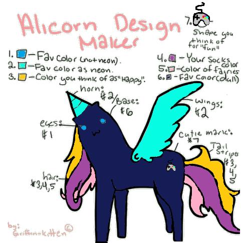 Alicorn Design Maker by TheDarkDuskWolf