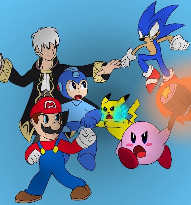 Smash Bros Poster by TheDarkDuskWolf
