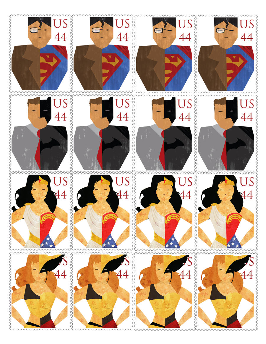 A League of their Own - Stamps by Kornari