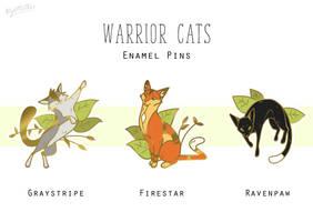 Warrior cats enamel pins PREORDER