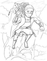 Sketch: OC - Ryusuke Hitoshino by Dipuc4Life
