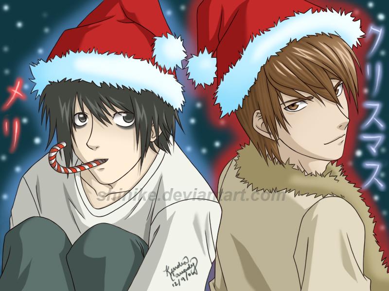 http://fc04.deviantart.net/fs9/f/2006/343/3/6/Death_Note_Christmas_by_shinike.jpg