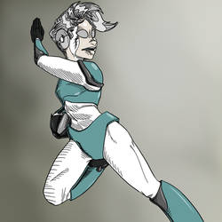 Vivian X Maverick Hunter by mastertoon4
