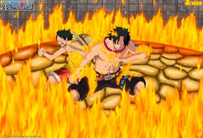 ACE Y LUFFY(manga 573 ) by NARUTO999-BY-ROKER