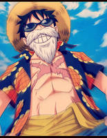 Luffy - (One-Piece) by NARUTO999-BY-ROKER