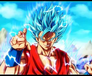 Goku Ssj 2 - (Dios) by NARUTO999-BY-ROKER