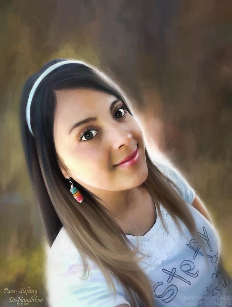 Stefany Eliza (Retrato) by NARUTO999-BY-ROKER