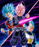 Goku y Vegeta Vs Black Ssj Rose