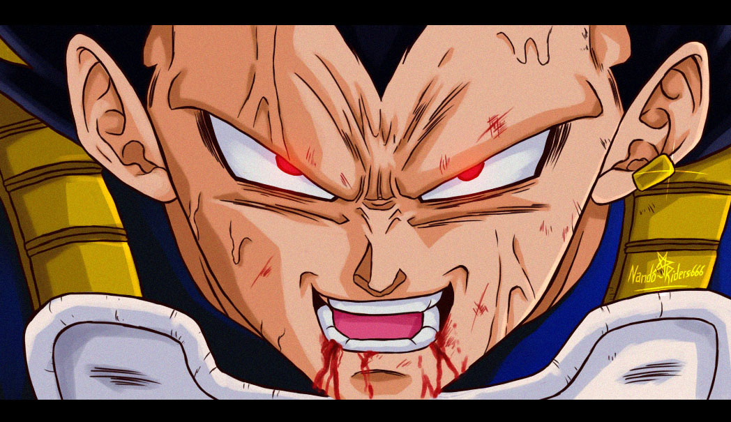 Vegeta Manga 74 Version anime