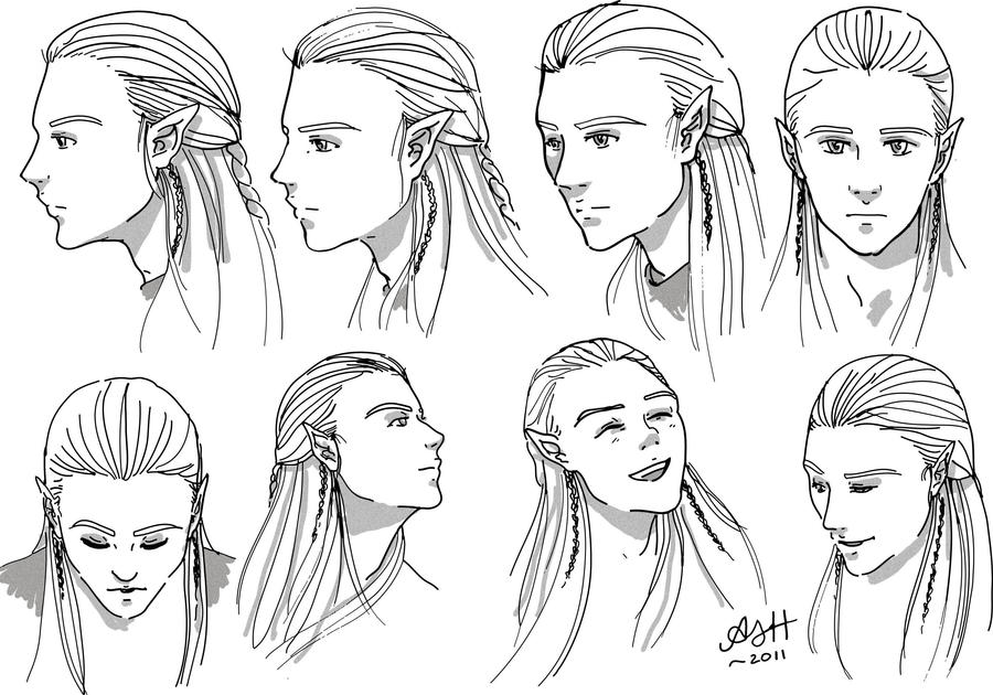 Legolas Head Study by ArtElleth87