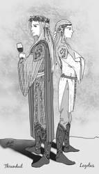 Thranduil and Legolas by ArtElleth87